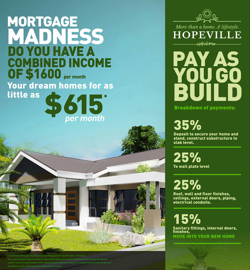 Mortgage madness, pay as you build.